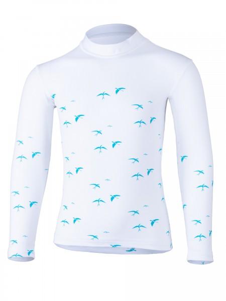 KIDS Langarmshirt birdy white