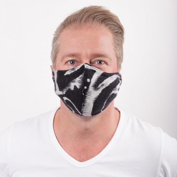 """Mund-Nasenmaske """"Schwarz-Weiß"""""""
